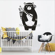 stickers pour chambre d enfant tribal ours sticker woodland animaux ours wall sticker pour chambre