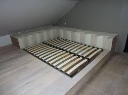 Raised Platform Bed Custom Platform Bed Bedroom Elegant Decoration Modern Bed