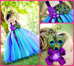 peacock turquoise peacock tutu dress peacock flower girl dress turquoise purple