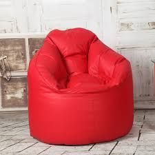 red leather bean bag boss chair