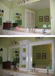 Large Bathroom Mirrors Cheap How To Rev A Large Bathroom Mirror Diy Cozy Home