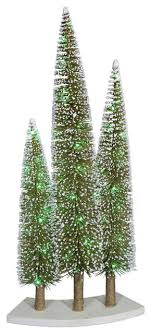 pre lit led green gold glitter artificial mini