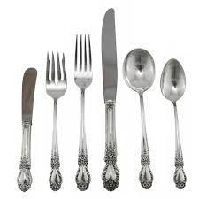 brocade u201d sterling silver flatware set by the international silver
