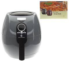 cook u0027s essentials 3 qt 1400 watt air fryer with recipe book