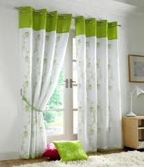 lined bedroom curtains ready made tahiti embroidered voile fully lined eyelet curtains lime green