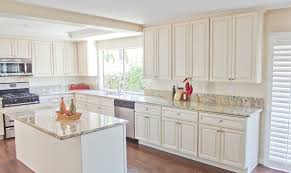 How To Paint Oak Kitchen Cabinets White by Kitchen Wonderful Antique White Kitchen Cabinet Featuring Large