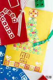 lego stamped christmas cards for kids to make
