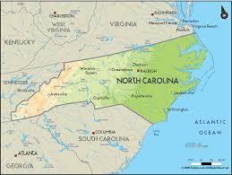 geographical map of carolina and carolina geographical