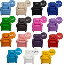 Youth Recliner Chairs Personalized Recliner Arm Chairs Embroidered Chairs