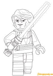 anakin skywalker from lego star wars coloring page free coloring