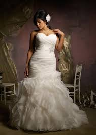 mermaid wedding dresses ruffled plus size organza mermaid wedding dress style 3124 morilee