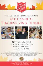 mayor salvation army thanksgiving dinner neal s blaisdell