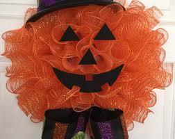 halloween deco mesh etsy
