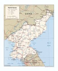 Korea Map Asia by Large Detailed Political Map Of North Korea With Roads Railroads