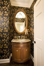 Bow Front Vanity Powder Room Vanity Bathroom Traditional With Bow Front Chest Wall