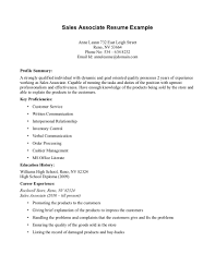 Example Retail Resume by Cover Letter Sales Person
