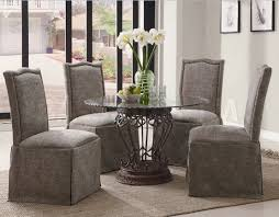 Dining Room Chair Pueblosinfronterasus - Grey fabric dining room chairs