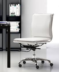 Armless Chairs Deluxe Armless Bankers Office Chair Antique White Office Chairs