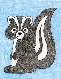 draw a skunk art projects for kids