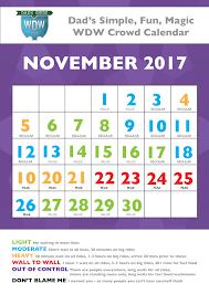 november disney world crowds calendar and more