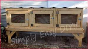 simply easy diy diy rabbit hutch
