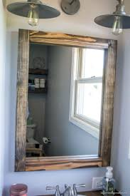 wood vanity mirror house decorations