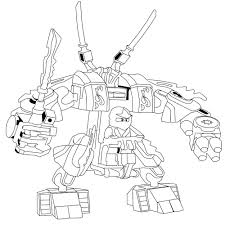 lego ninjago kai fire mech coloring page printable coloring pages