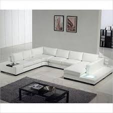 Contemporary White Leather Sectional Sofa by Modern White Sectional Sofa Foter