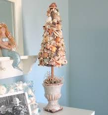 decor seashell topiary tree nautical decor shell tree in