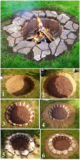 backyards charming 27 awesome diy firepit ideas for your yard