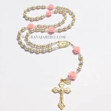 personalized rosary pearl rosary can be personalized rana jabero