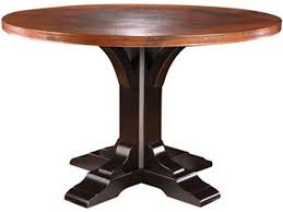 copper dining room tables nichols and stone dining room copper top pedestal dining table ns