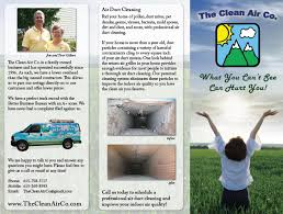 clean air co tennessee air duct cleaning brochure
