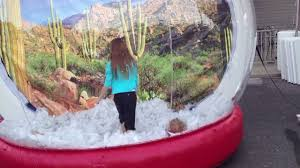 kids playing in life size snow globe youtube