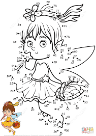little fairy dot to dot free printable coloring pages