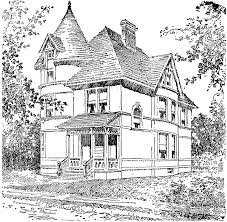 house 68 buildings and architecture u2013 printable coloring pages