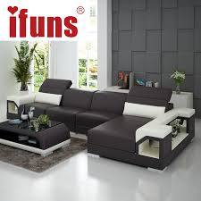Leather Corner Sofa Beds by Ifuns Brillancy Orange Genuine Leather Corner Sofas Modern Design