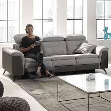 canapé 3 places relax electrique canapé gris de relaxation electrique sofamobili