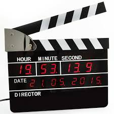 Cool Digital Clocks by Retro Large Size Directors Edition Alarm Clock Clapper Board