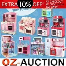 details about new large kids toy wooden kitchen cooking set