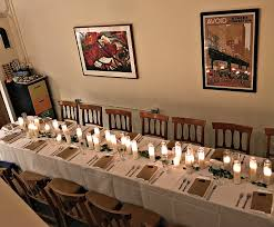 setting a holiday dinner party table the first thing i did was