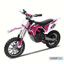 dirt bikes motocross new xtreme 36v 500w xtm dirt bike in pink with lithium batteries