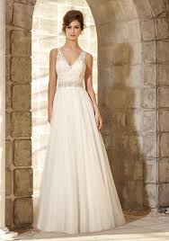 Majestic Embroidered Bodice With Crystal Beaded Waistline Trim On