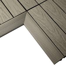 newtechwood 1 6 ft x 1 ft quick deck composite deck tile outside
