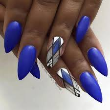 60 pretty matte nail designs blue nails matte nails and long