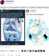 Know Your Meme Me Gusta - complaint artist vs chad lewd artist