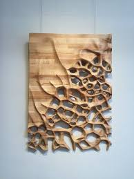 3d milling hanging wood wall hanging 3d cnc milled maple wood cnc milling
