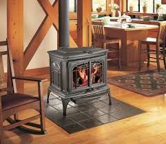 traditional living room style with free standing wood burning