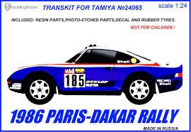 rothmans porsche rally porsche 959 paris dakar 86 modelling master