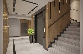 foyer area apartments building entrance hall area foyer lobby with elevator